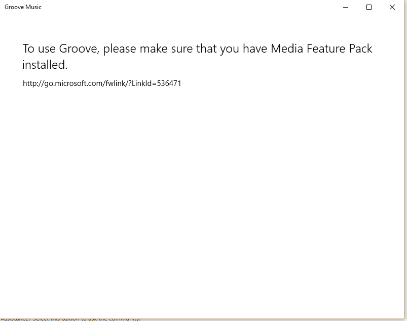Windows media feature pack is not working  - Microsoft Community