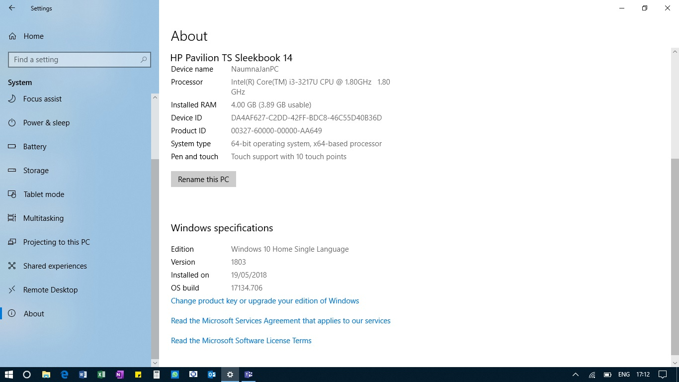 Retrieve Windows 10 Product key installed on the PC