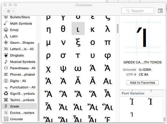 Greek Characters In Unicode Font On Times New Roman In Ms Word