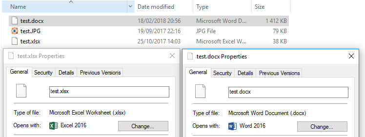 Windows 10 - Office 2016 (Word, Excel, Powerpoint) icons not