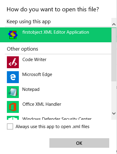 outlook 2016 o365 default program for opening an attachment
