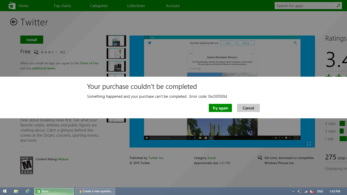Unable to download apps from Windows Store - Microsoft Community