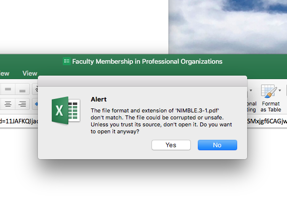 how do i open excel on my mac