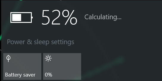 Windows 10 Battery Time Remaining Always Calculating Never Showing