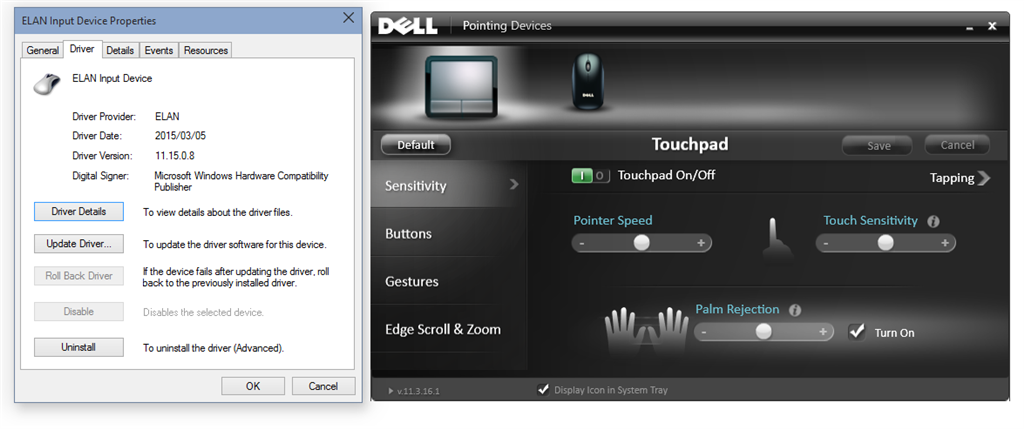 Elantech Touchpad scrolling doesn't work in Build 10049