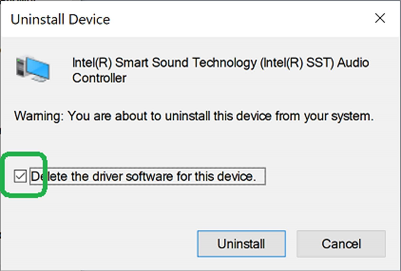 Windows 10 audio stops working after installing Intel Smart
