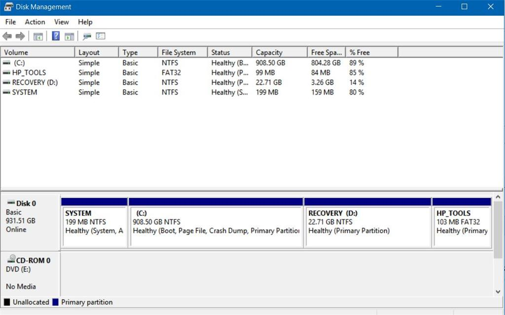 Old recovery partition     what do I do with it? - Microsoft