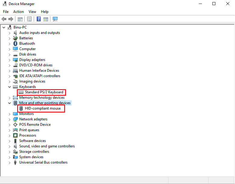 Device manager ps/2 mouse & ps/2 keyboard solved windows 7.