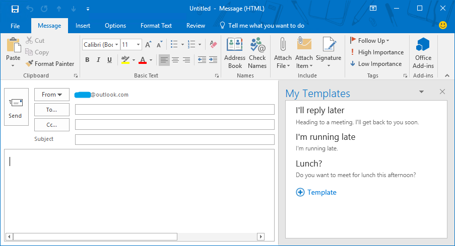 outlook-view templates