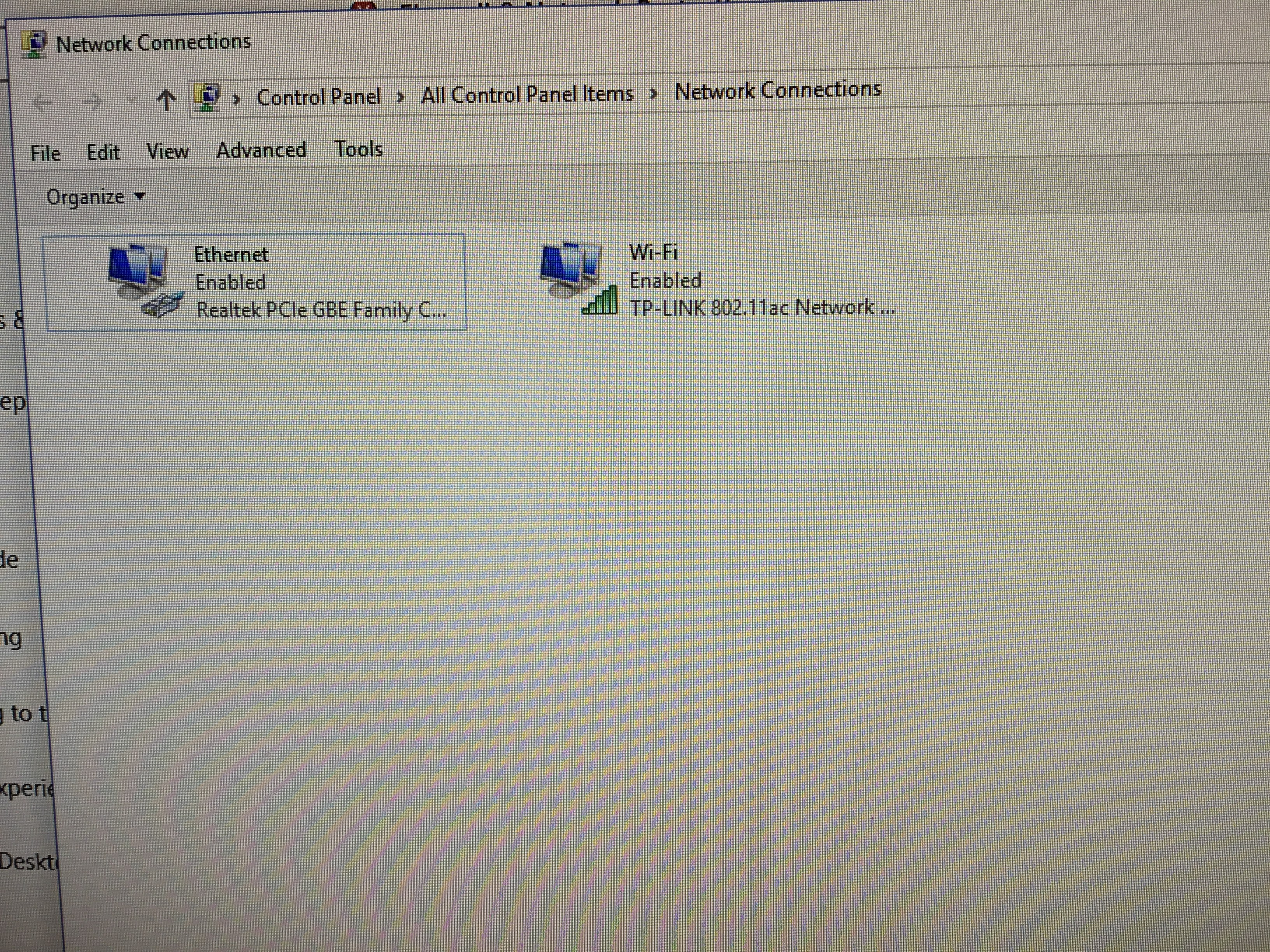 Ethernet connection issue on startup after feature update win 10 ver image publicscrutiny Image collections