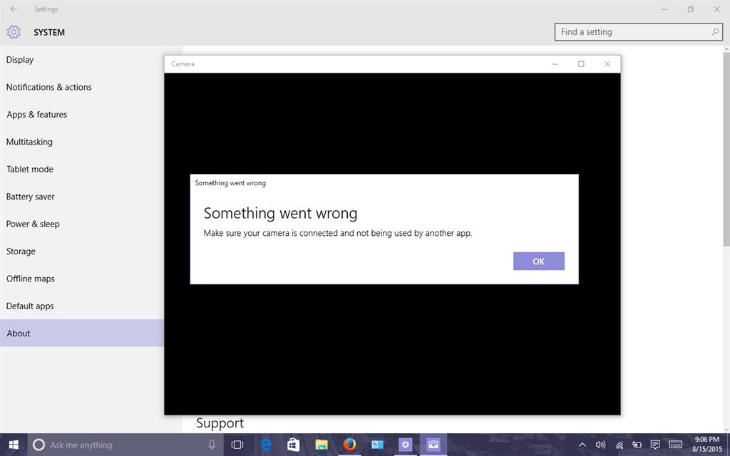 Camera not working in Windows 10 - Microsoft Community