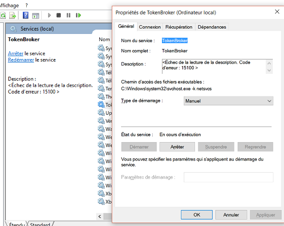 Service TokenBroker en erreur - Microsoft Community