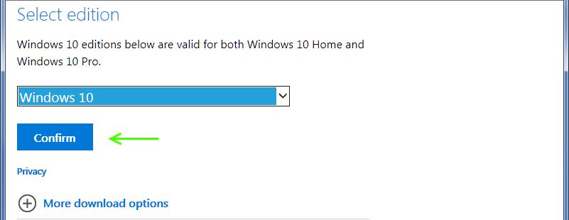 microsoft iso download windows 10 pro