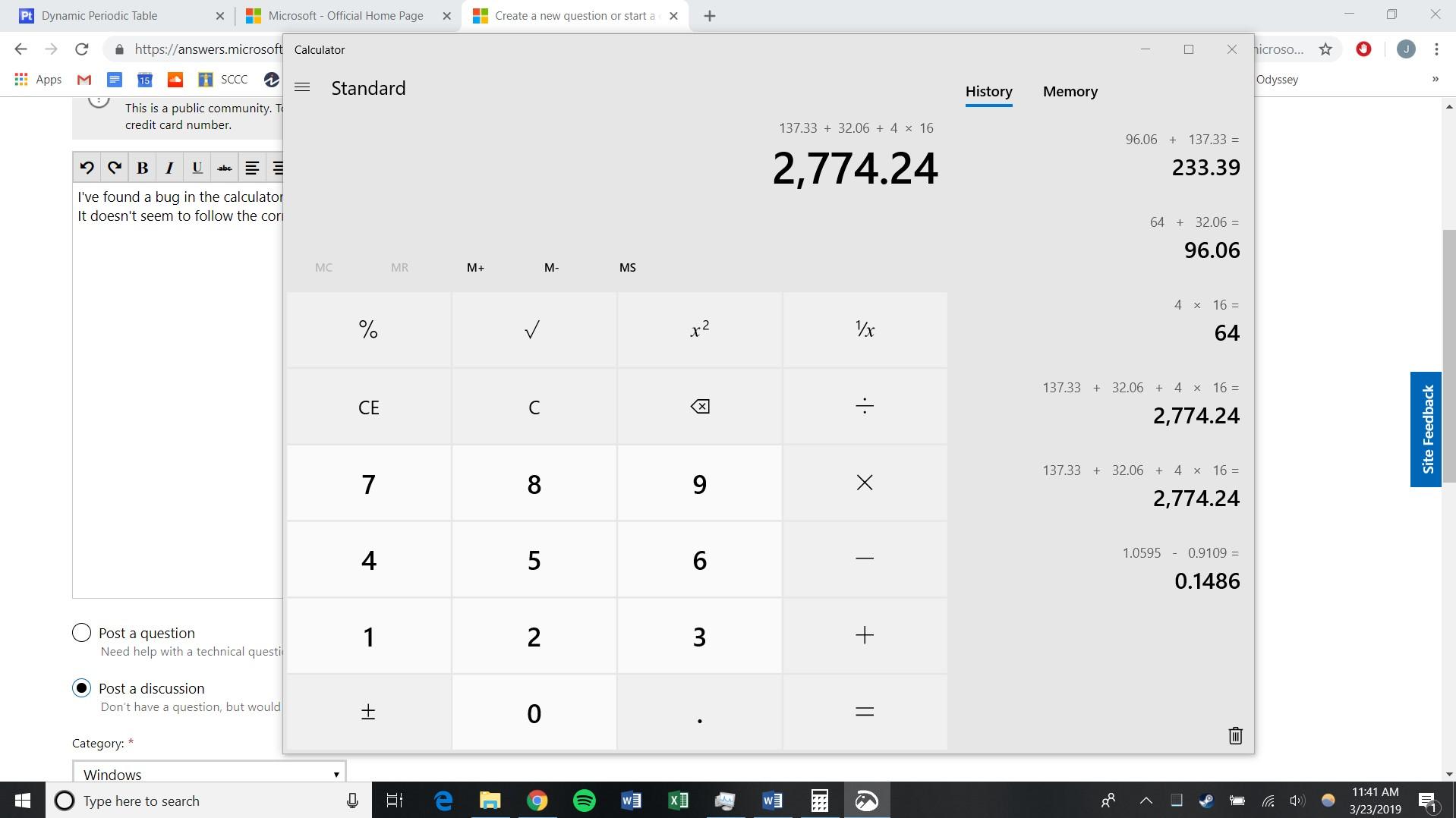 Calculator App Not Following Order Of Operations Microsoft Community
