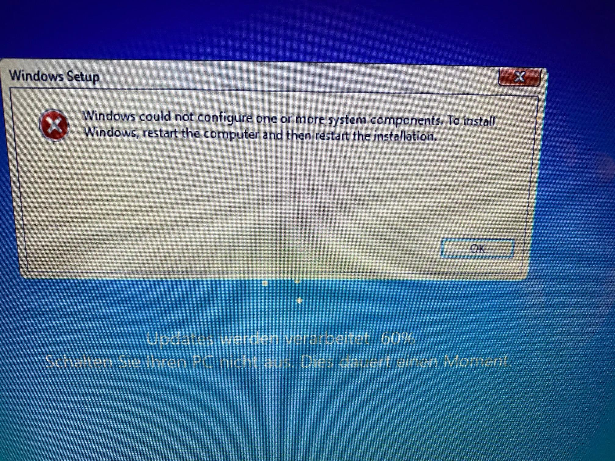 Problem Win 10 Update
