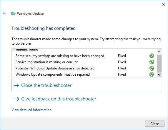 Windows 10 Service Registration Is Missing Or Corrupt Hatası