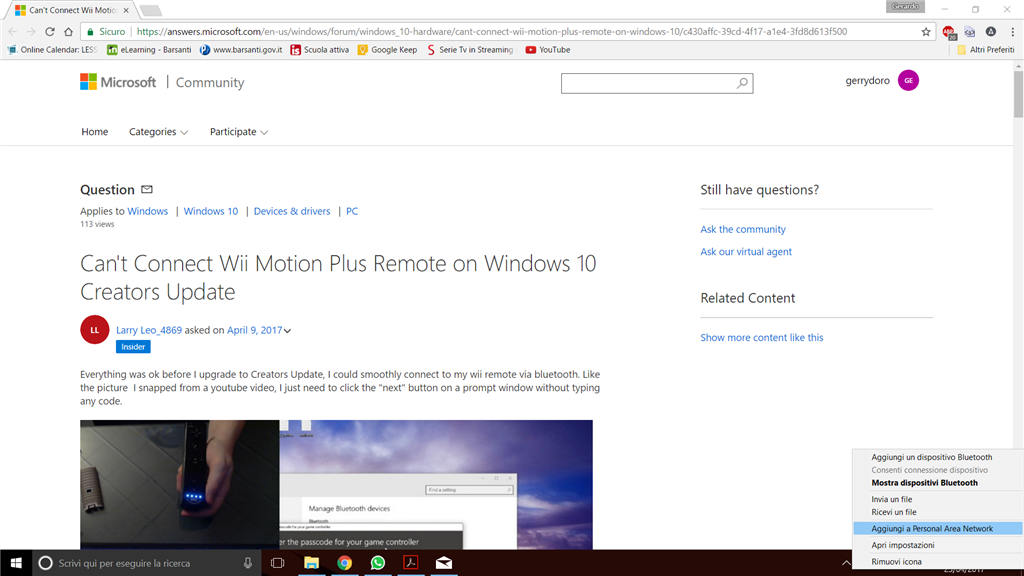 Can't Connect Wii Motion Plus Remote on Windows 10 Creators