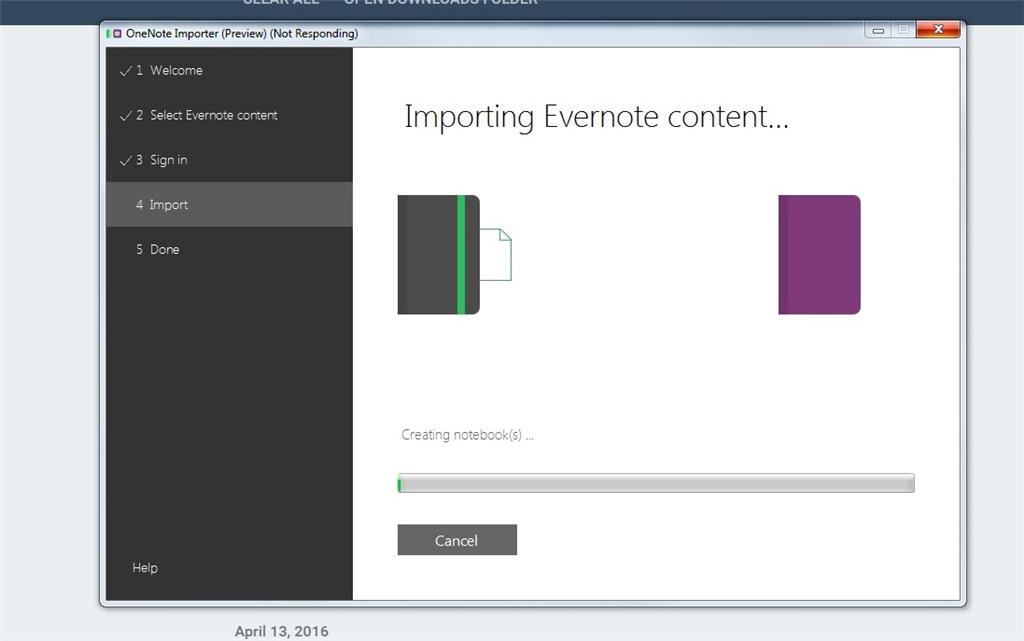 OneNote importer for Evernote not working - Microsoft Community