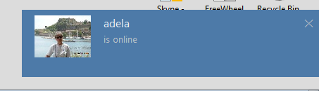Skype 8 preview, notifications when someone comes online never shows