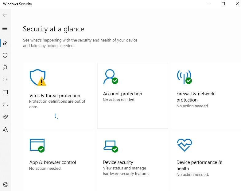 Windows defender is not updating