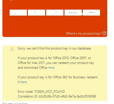 office 2010 key not valid