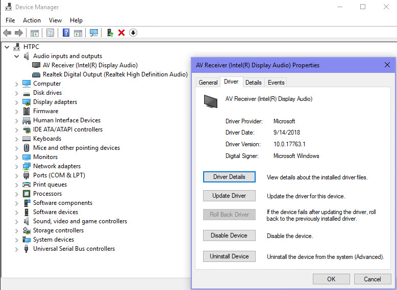 Stereo Only in Sound Settings for HDMI via Intel iGPU in Windows 10