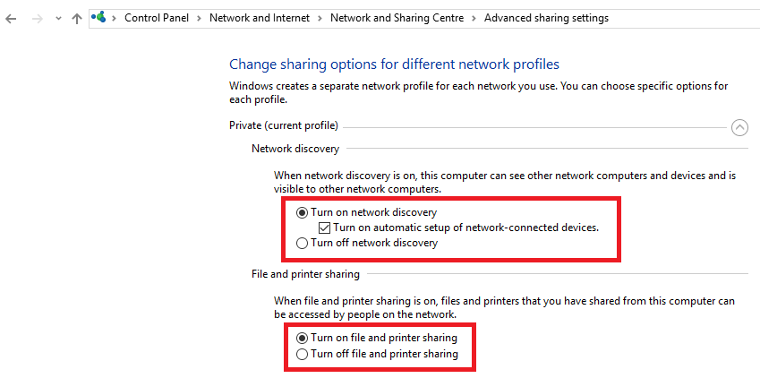 windows 8 turn on network discovery