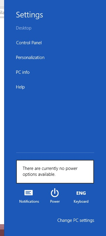 There are currently no power options available - Microsoft Community