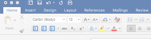 Missing icons for bold, italic and underline in Word 2016