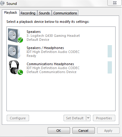 My Logitech G430 Headset is not working - Microsoft Community