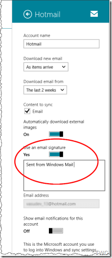 1 Microsoftmail At Abc Microsoft Com: How To Personalize Signature On Windows Mail App