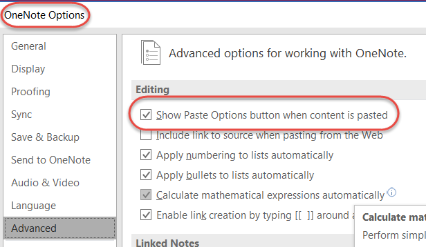 OneNote 365: Copy/paste image is not working - Microsoft