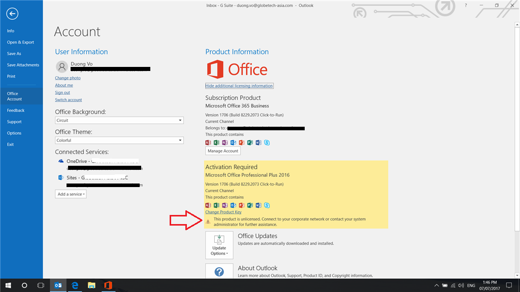 Office 365 bussiness this product is unlicensed - Office 365 will not install on windows 7 ...