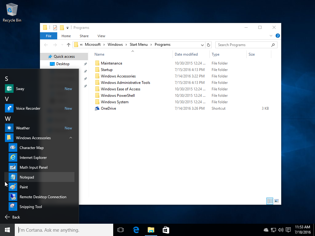 how to use notepad windows 10