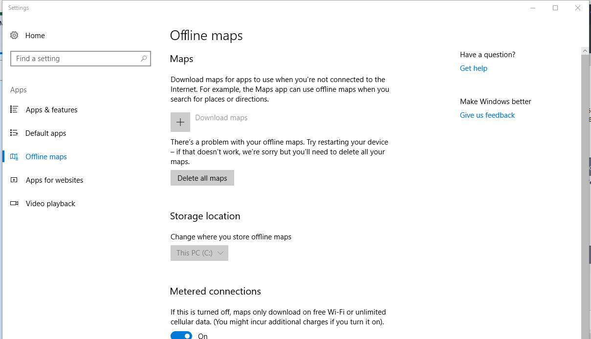 Microsoft Maps are not working on Windows 10 - Microsoft