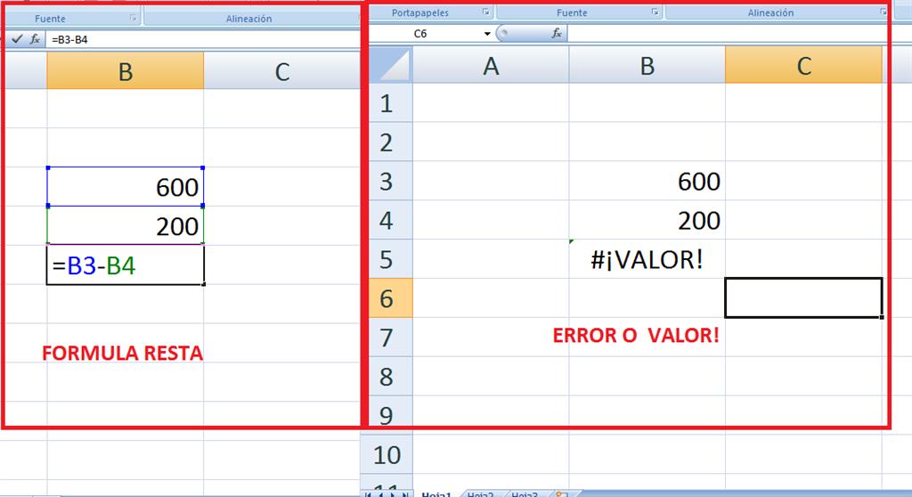 Error Al Hacer Resta En Excel Microsoft Community