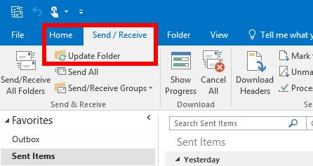 Outlook 2016 not syncing gmail imap sent items between
