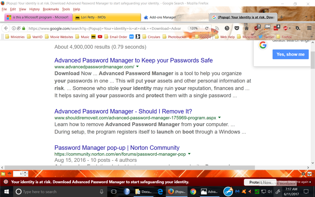 Your identity is at risk  Download Advanced Password Manager to