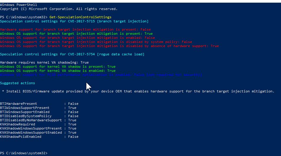 windows meltdown antivirus registry key