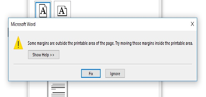 picture regarding Printable Margins titled Difficulty with Printing Information within Customized Margins