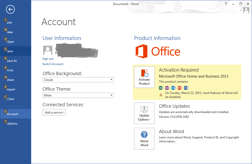 how to fix Office 2013 deactivated by auto-update? - Microsoft Community