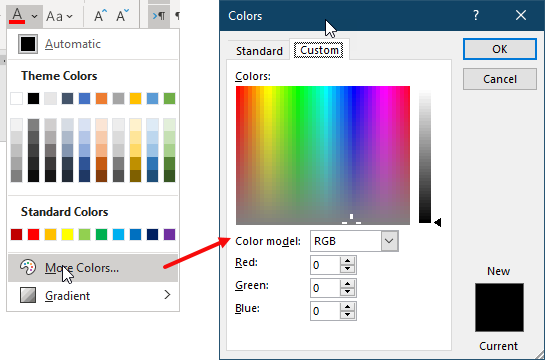 How Can We Use Pantone Colors In Microsoft Word Fonts Microsoft Community