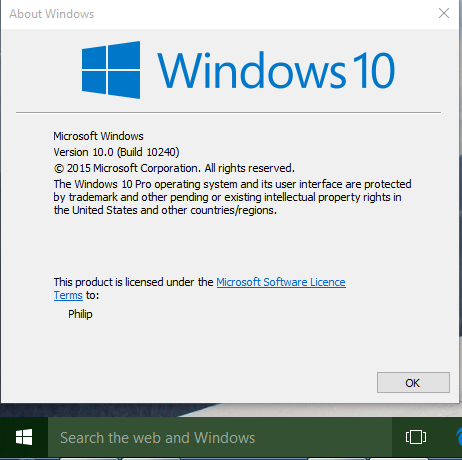 Windows 10 10240 is windows 10 rtm and available for windows image ccuart Choice Image
