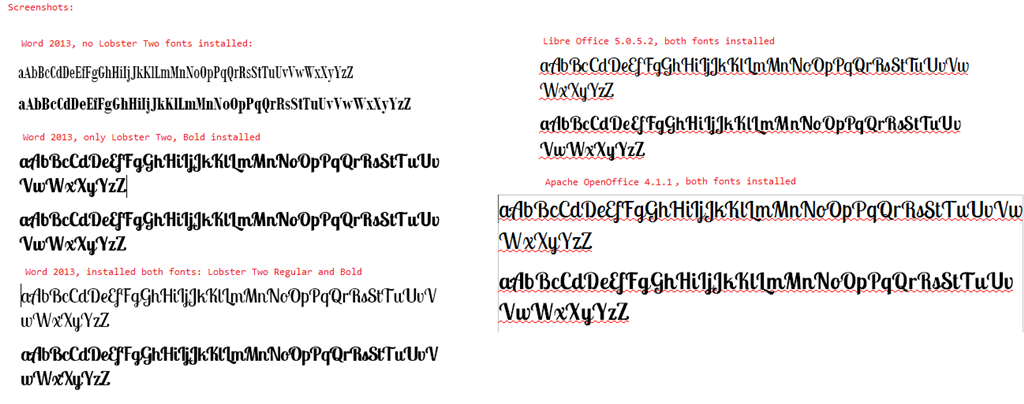 Word 2013 Doesnt Display Bold Font Regular Font With Bold