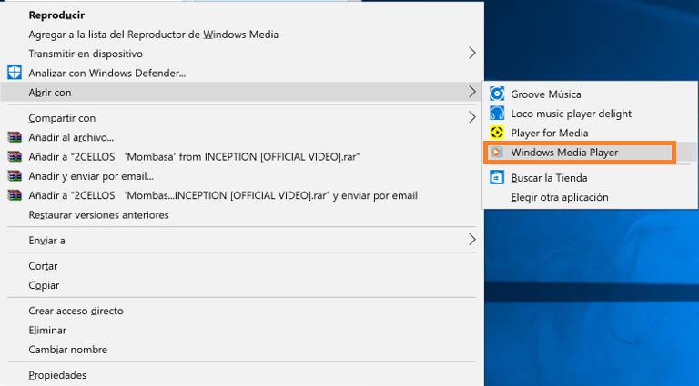 Windows 10 - En videos bajados de facebook me sale el
