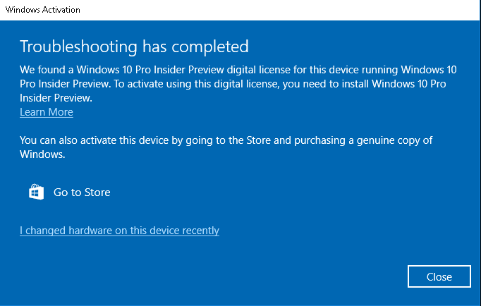 Windows fails to activate under preview build using fresh install image ccuart Gallery