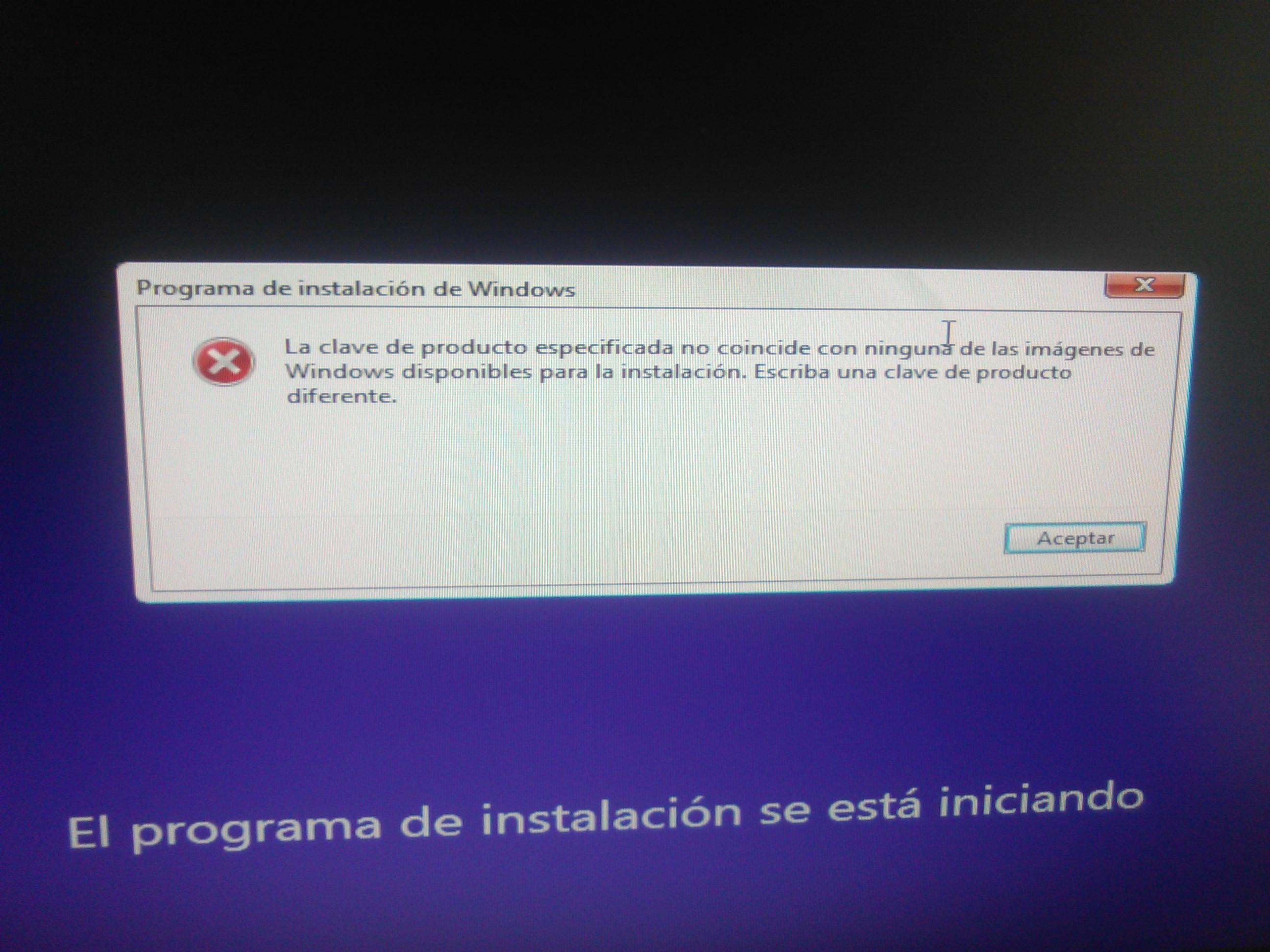 clave de windows 8 para instalar