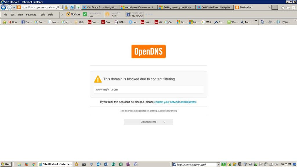 Error: There is a problem with this website's security