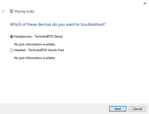 my built in speakers are not working windows 10