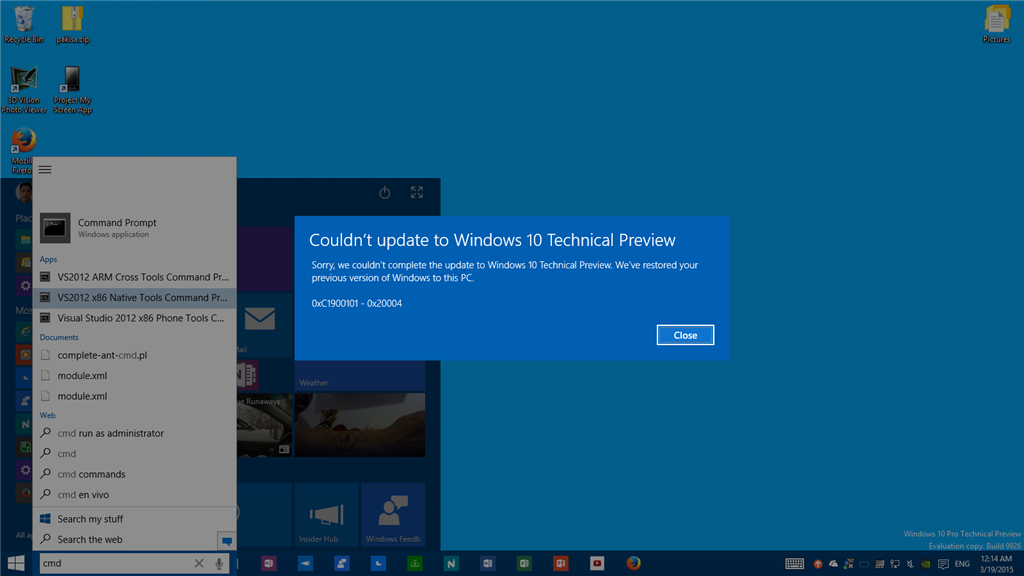 Error 0xc1900101 0x20004 when updating to build 10041 microsoft image ccuart Image collections